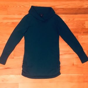 Calvin Klein blue sweater with side ruching